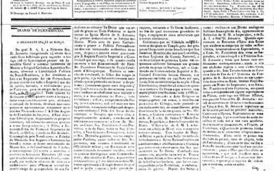 <strong>14 de março de 1836</strong><br> Crônica da festa de 14 anos da Princesa Januária, órfã de Pedro I.