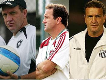 Cuca em 3 momentos em 2008: Botafogo, Fluminense e Santos