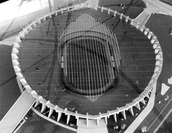Estádio Presidente Médici, projeto do Sport em 1971