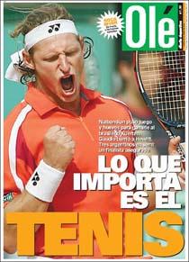 Capa do Olé de 3 de junho de 2004