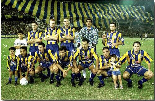 Rosario Central, campeão da Copa Conmebol de 1995