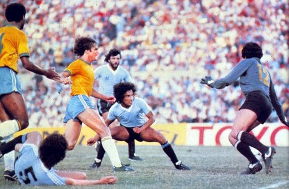 Final do Mundialito em 10 de janeiro de 1981: Uruguai 2 x 1 Brasil