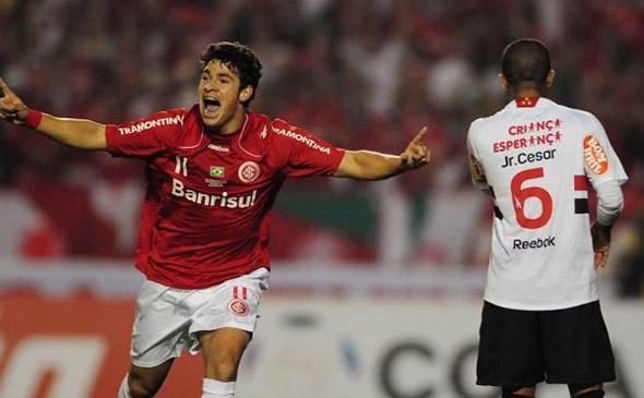 Semifinal da Libertadores de 2010: Internacional 1 x 0 São Paulo. Foto: Inter/divulgação