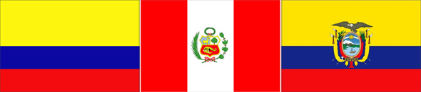 Colômbia, Peru e Equador