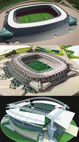 Projetos pernambucanos para a Copa de 2014: Cidade da Copa  (Odebrecht), Cidade da Copa (versão do governo do estado) e Arena  Recife-Olinda