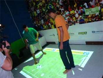 Futebol virtual dos Correios. Foto: divulgação