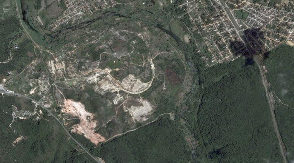Terreno da Cidade da Copa, em São Lourenço da Mata. Fonte: Google Maps