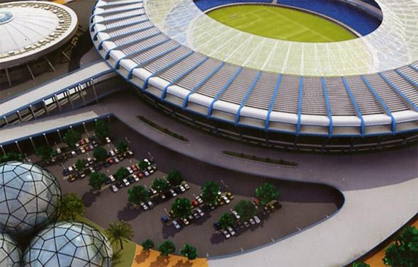 Projeto para o estádio do Maracanã, visando a Copa do Mundo de 2014