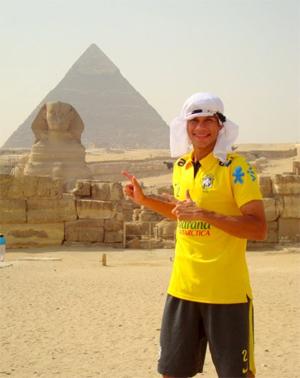 Ciro no Egito, durante o Mundial Sub-20 de 2009. Crédito: arquivo pessoal