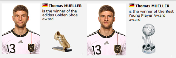Thomas Müller, chuteira de ouro e revelação da Copa do Mundo de 2010