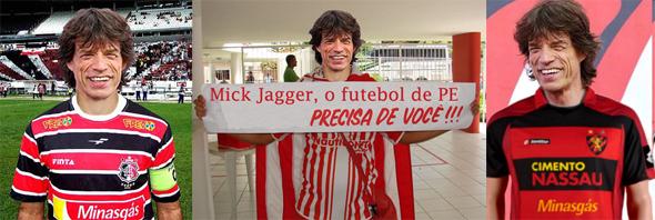 Mick Jagger invade o futebol pernambucano