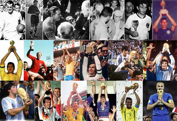 Capitães dos títulos mundiais de 1930 a 2006