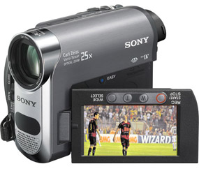 Câmera Mini DV. Sony/divulgação