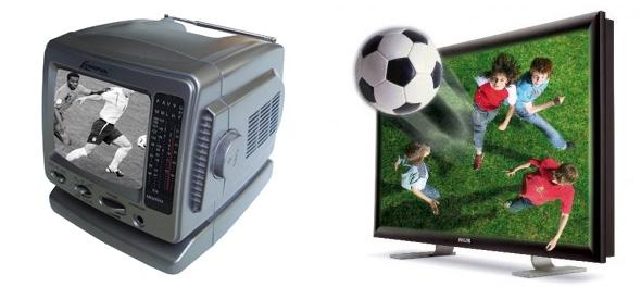 Evolução da TV, do preto e branco ao 3D