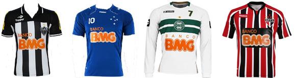 Alguns dos clubes patrocinados pelo BMG em 2011