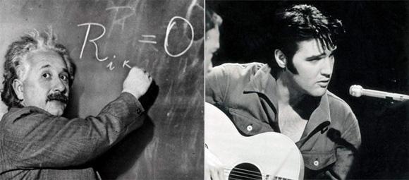 Gênios: Albert-Einstein e Elvis-Presley