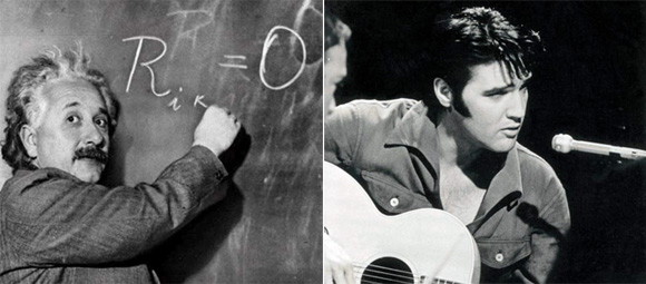 Gnios: Albert-Einstein e Elvis-Presley