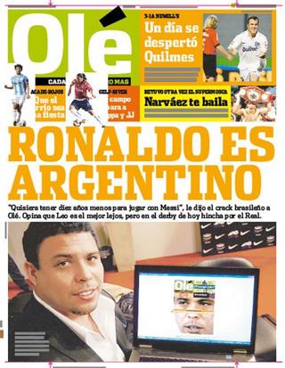 Olé, da Argentina: 16-04-11