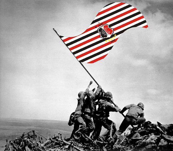 Bandeira de guerra do Santa Cruz. Crédito: Clébio Junior/divulgação