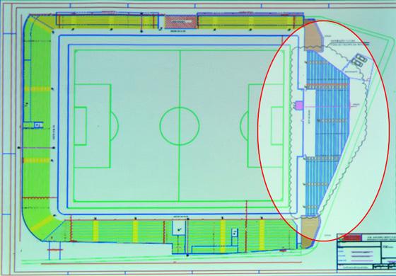 Planta baixa da ampliação do Estádio Cornélio de Barros