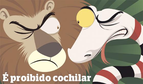 Leão e Cobra Coral decidem o título estadual de 2011. Arte: Greg/Diario de Pernambuco