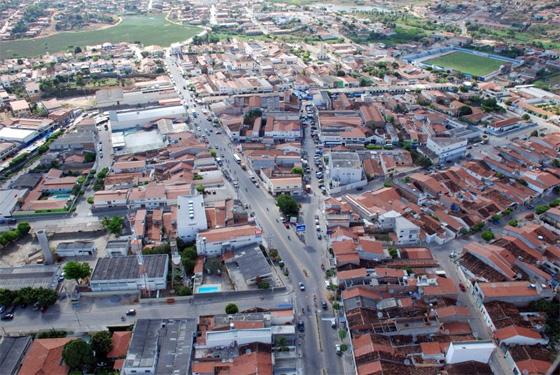Vista aérea de Salgueiro, a 511 km do Recife