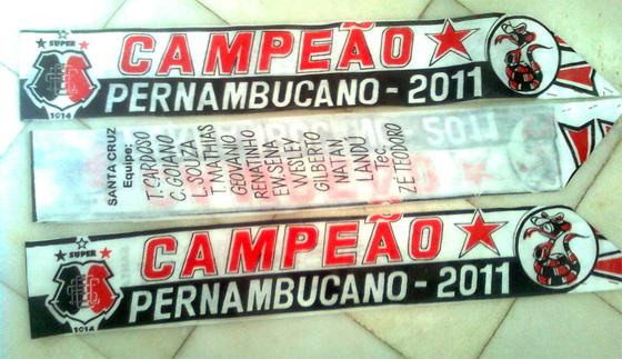 Faixa do Santa Cruz, campeão pernambucano de 2011. Foto: Felipe Coelho, Sportnet/divulgação