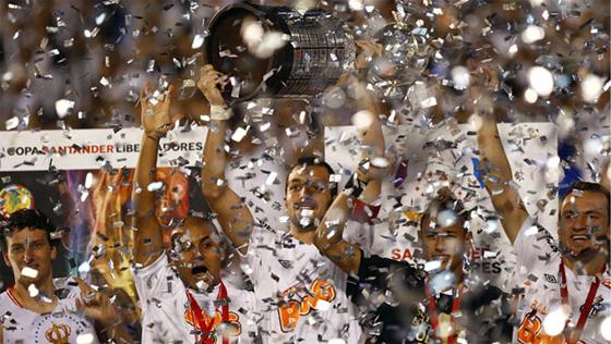 Final da Libertadores 2011: Santos 2 x 1 Peñarol. Foto: Fifa/divulgação