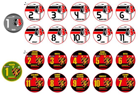 Futebol de botão: Santa Cruz (Pernambucano 2011) e Sport (Copa do Brasil 2008)