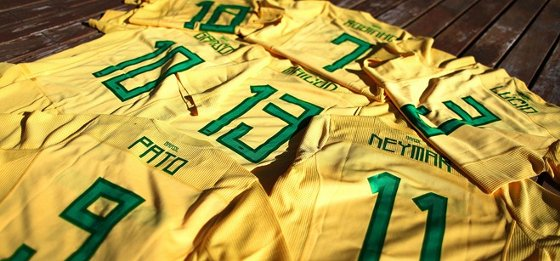 Copa América  numeração da Seleção Brasileira. Foto  CBF divulgação 29a1dd2d4a31d