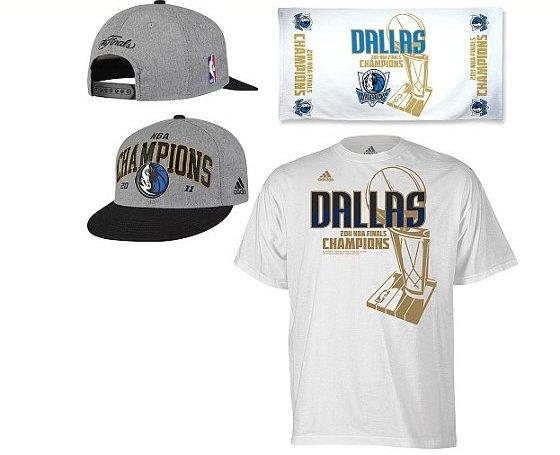 9e6ede91b8 Produtos do Dallas campeão da NBA 2011. Crédito  NBA