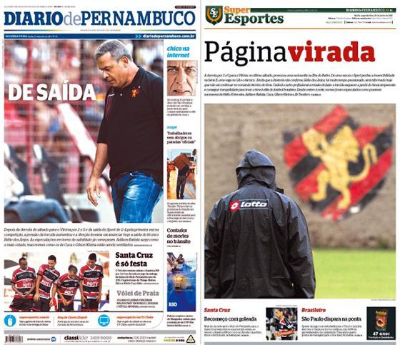 Capas do Diario de Pernambuco e do Superesportes: 20-06-11