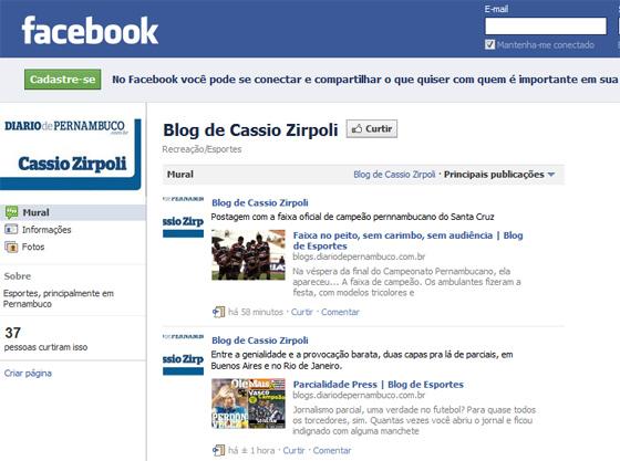 Facebook do Blog de Cassio Zirpoli