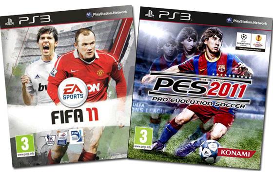 Games Fifa 2011 e PES 2011