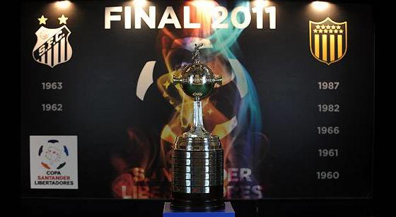 Final da Libertadores 2011: Santos x Peñarol. Crédito: Conmebol/divulgação