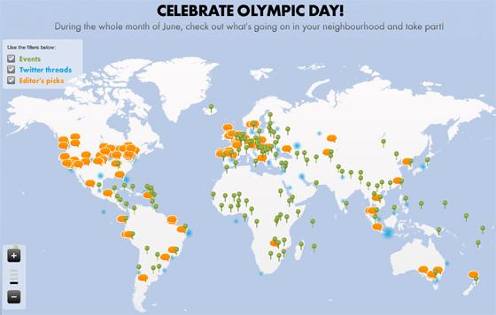 Dia Olímpico em 2011. Crédito: COI/divulgação