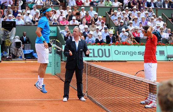 Final do Roland Garros 2011: Rafael Nadal x Roger Federer. Foto: Roland Garros/divulgação