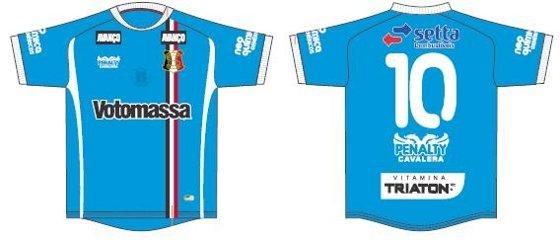 Camisa azul do Santa Cruz para a Série D 2011. Crédito  Santa Cruz  3bdd958c988a8