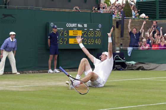 Wimbledon 2010: Isner vence Mahut após jogo de 11 horas. Foto: ATP/divulgação