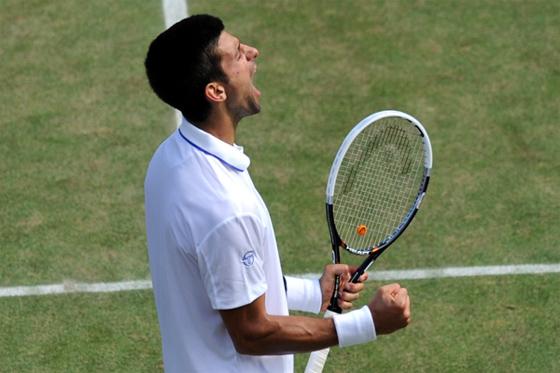 Nova Djokovic avança para a final do Grand Slam de Wimbledon, em 2011. Foto: Wimbledon/divulgação