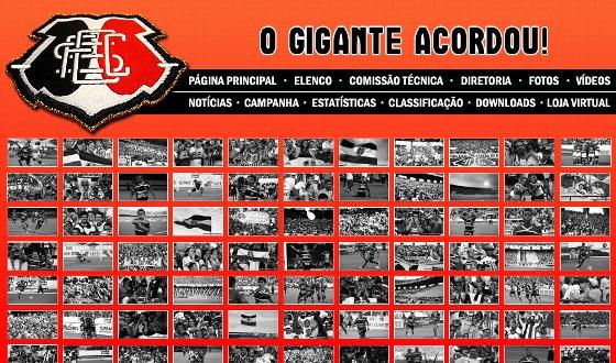 Hotsite do Santa Cruz sobre o acesso à Série C de 2012