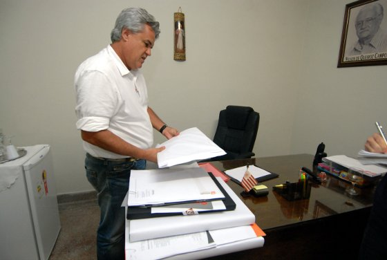 André Campos e as propostas para os Aflitos. Foto: Ricardo Fernandes/Diario de Pernambuco