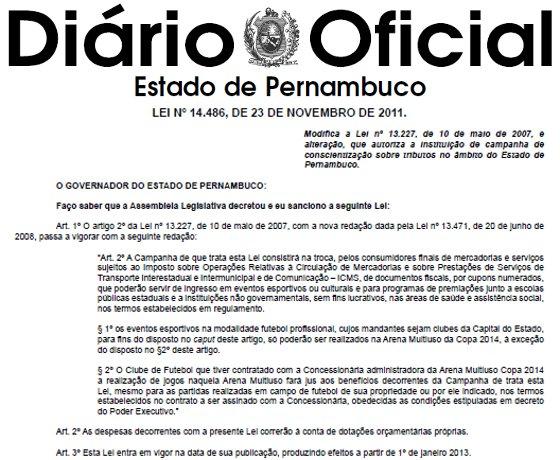 Diário Oficial de Pernambuco, 24/11/2011