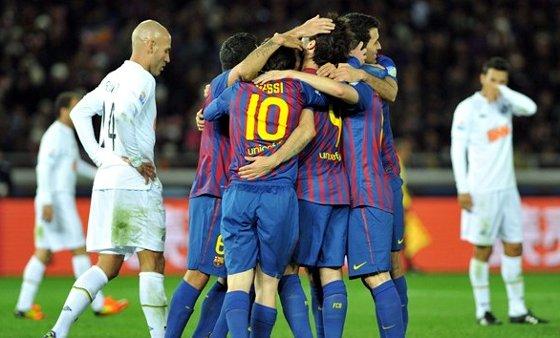 Final do Mundla de Clubes 2011: Barcelona 4 x 0 Santos. Foto: Fifa/divulgação