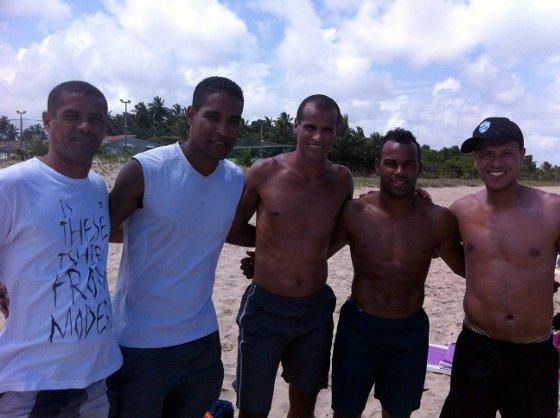 Rivaldo, Cleber Santana, Luis Fabiano e Fernandinho. Foto: Rivaldo/divulgação