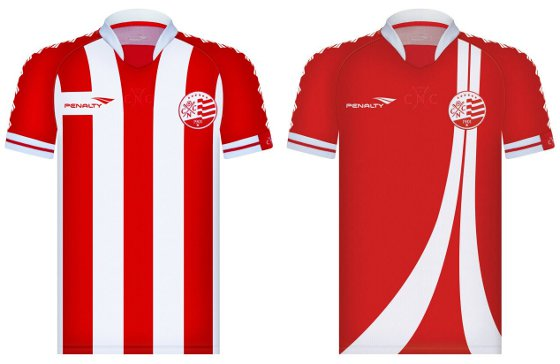 Camisas nº 3 do Náutico produzida pela Penalty para 2012. Crédito  Penalty  divulgação 2a2a770f0dd66