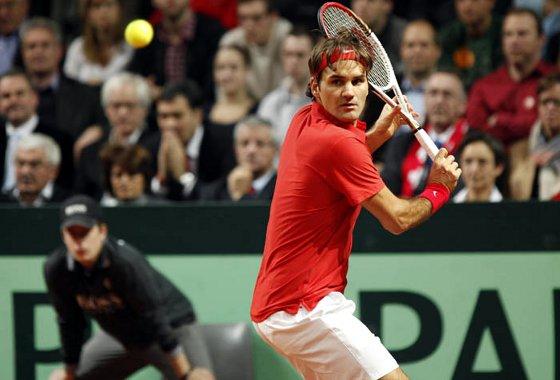 Copa Davis 2012: Roger Federer. Crédito: Davis Cup/divulgação