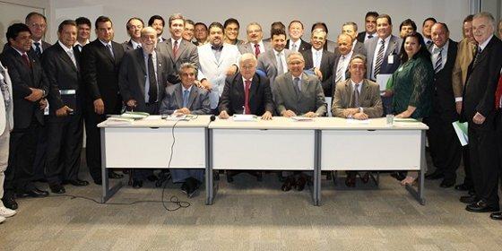 Assembleia da CBF em 2012. Foto: CBF/divulgaçãAssembleia da CBF em 2012. Foto: Ricardo Stuckert/CBFo