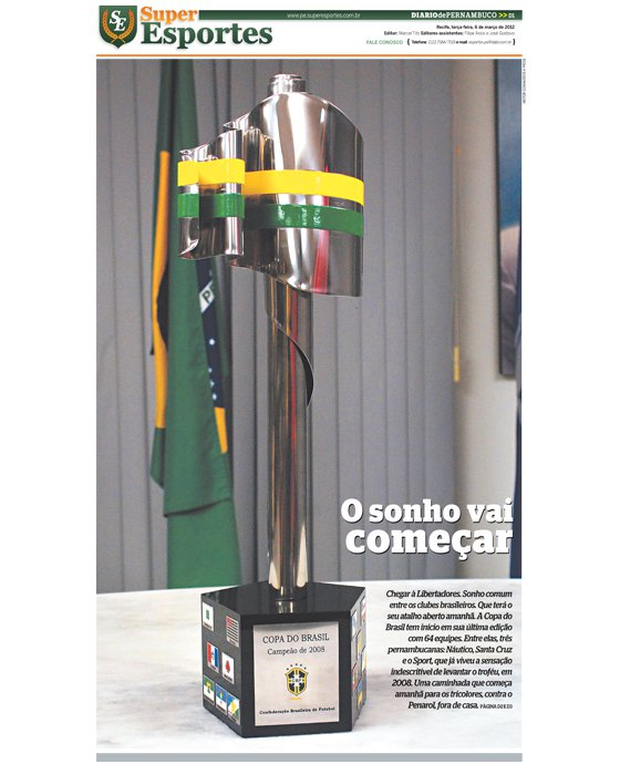 Capa do Superesportes: 06-03-12