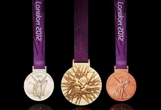 Medalhas dos Jogos Olímpicos de 2012. Foto: Getty Imagens/divulgação